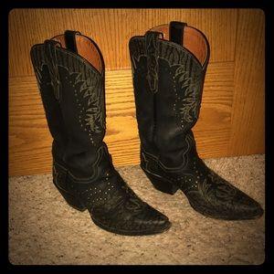 Black Dan Post cowboy boots